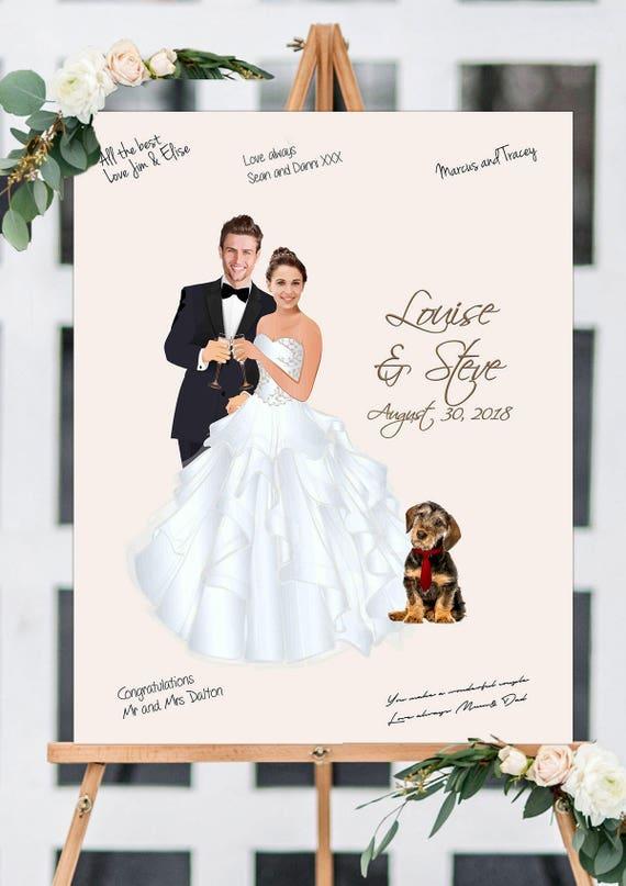 95cb60c9e2c Wedding Guest Book with Portrait