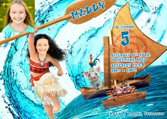 photo about Moana Printable Invitations known as MOANA Boy or girl Image invitation, Pores and skin tone matched, deal with