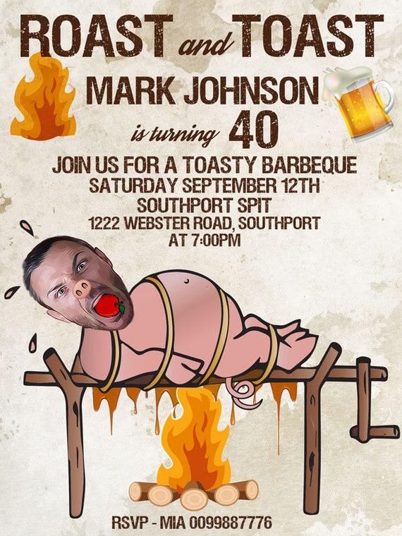 Roast And Toast Birthday Invitation Adult 21st 30th 40th 50th 60th
