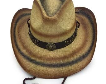 b895f88e5185b Old Stone 100% Paper Straw Cowboy Drifter Style Sun Hat AH-212