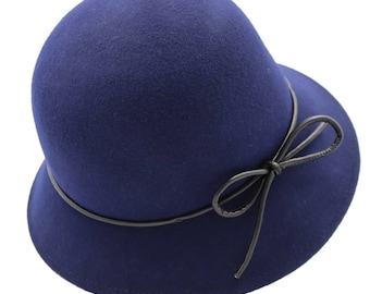 Alpas Women's 100% Organic Wool Felt Cloche Style Hat YY-043