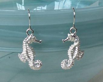 ee75708ce Sterling Silver Seahorse Earrings