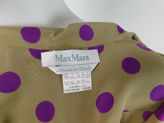 MaxMara Italy Vintage US 10 Silk Polka Dot Statem… - image 7