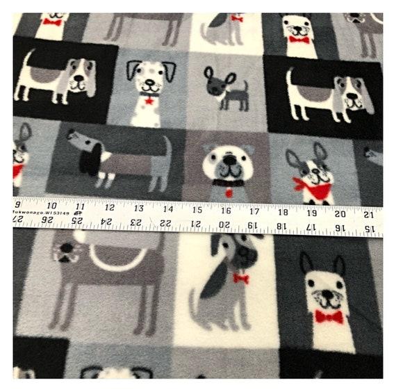 Cute Puppy Woof Woof Scottie Dogs Polar Fleece Anti Pil Fabric