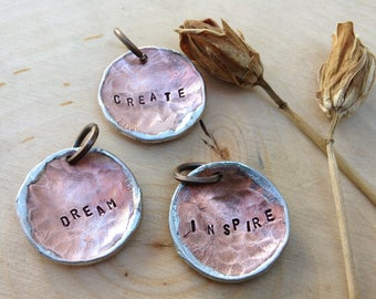 Lucky penny charms: create, dream, inspire