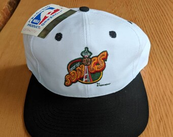 1995 Seattle Supersonics Logo 7 Adjustable Deadstock Cap Hat NBA