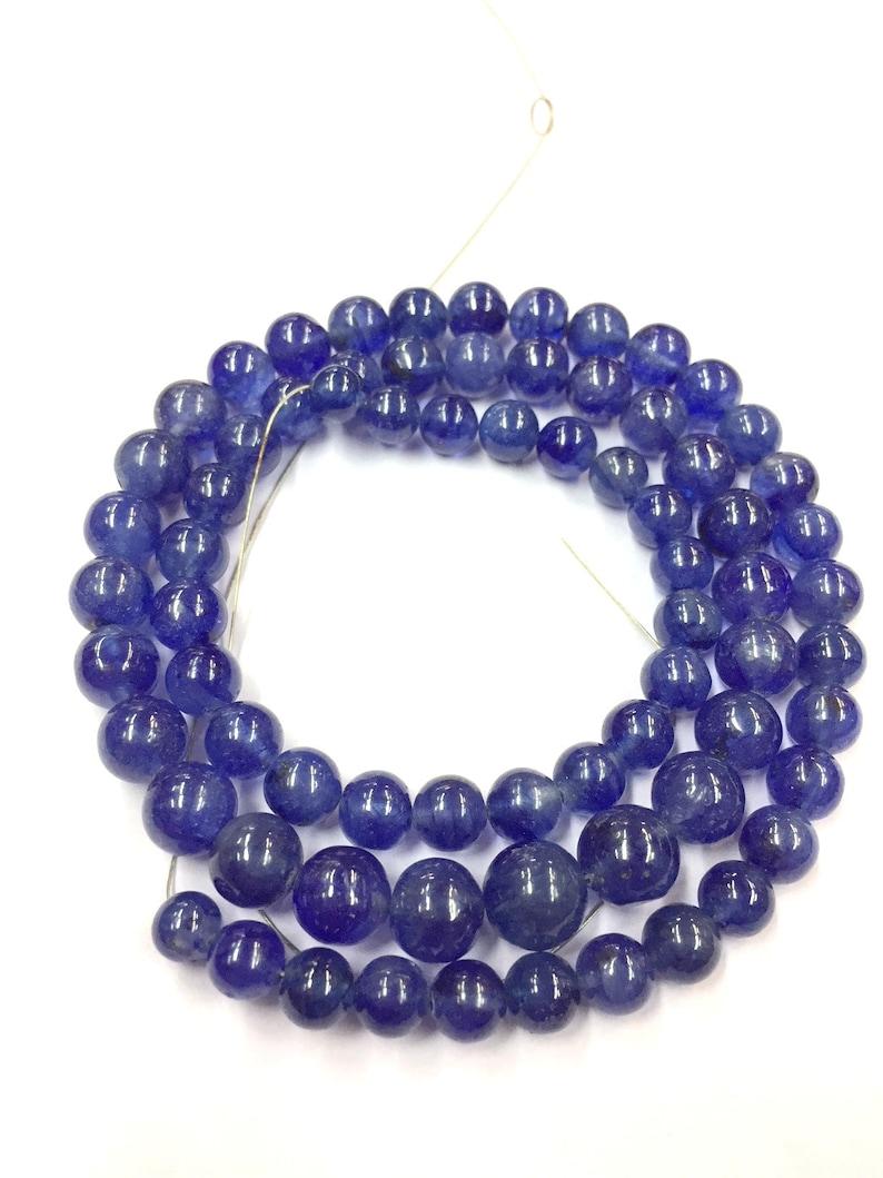 "Charming 4mm Blue Sapphire Gemstone round Loose Beads 15/"" Strand"