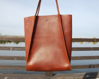 Leather shopping bag  d6679d54c8d43