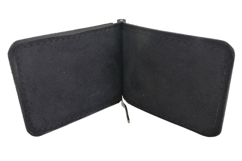 Black money clip leather money clip wallet custom wallet with clip engraved slim clip wallet bifold leather money clips men/'s mens for men