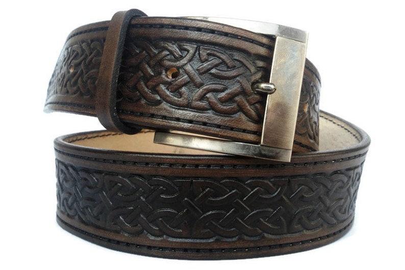 77f894b4e3c Ceinture en cuir ceinture ceinture celtique pour homme en cuir