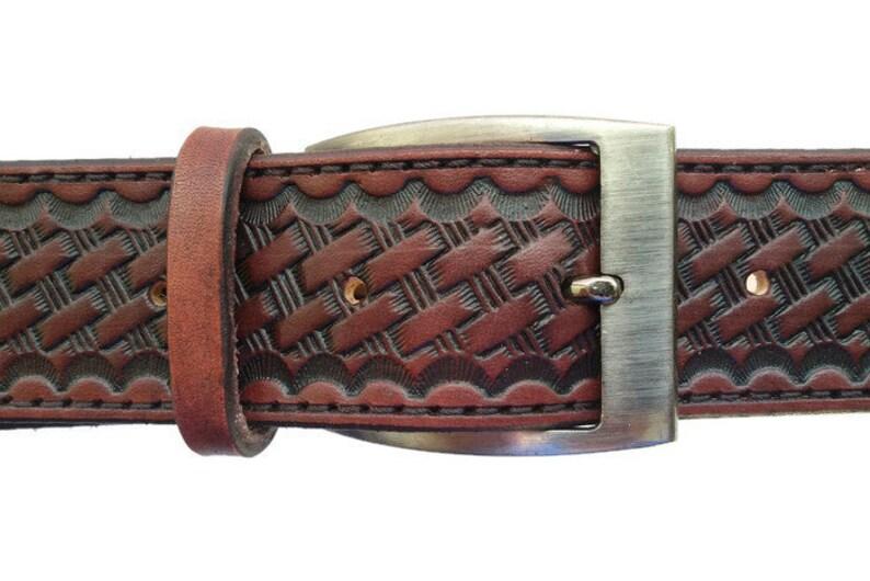 9eb9507f1ed Ceinture en acajou ceinture tressée ceinture de canne cuir