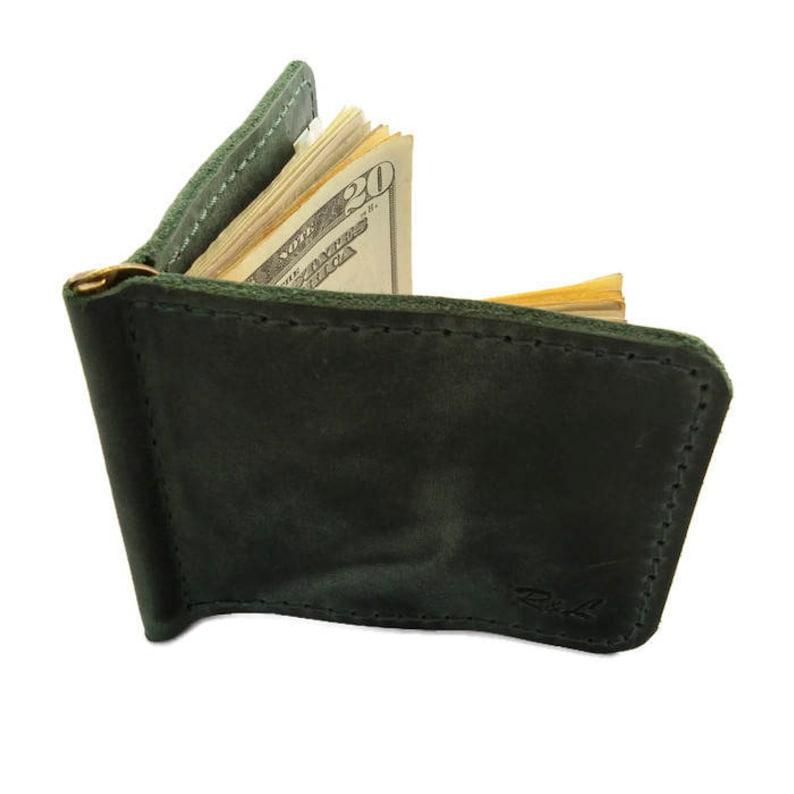 caa4901bf15e Green money clip money clip money clip wallet card holder | Etsy