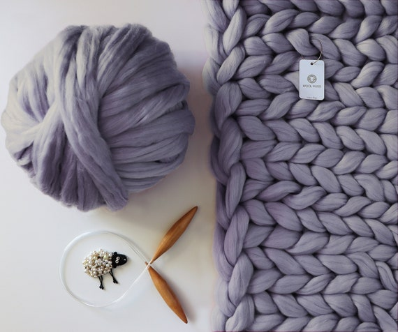 DIY Knitting Kit Merino Wool Blankets Oversize Throw  d2d347305