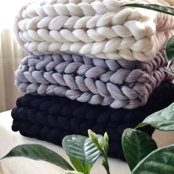 Cable Knit Blanket Queen.Chunky Knit Blanket Cable Knit Blanket Wool Blanket Queen Super Chunky Merino Wool Blanket Knitted Blanket Wool Blankets Full