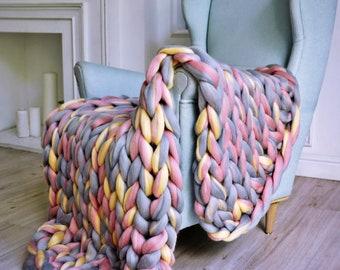 Weighted Blanket, Woven Blanket, Weighted Blanket Adult, Knit Weighted Blanket,Chunky Weighted Blanket, Chunky Knit Blanket, Knitted Blanket