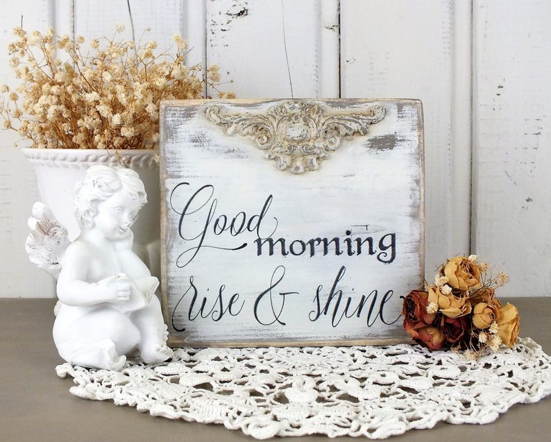Good Morning Sign Rise And Shine Small Kids Room Decor Etsy