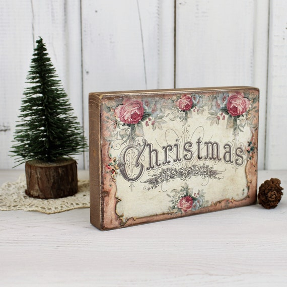 Tiered Tray Sign Jingle Bells Wood Sign Shelf Sitter Holiday Decor 3D Wood Christmas Sign