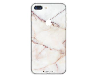 White Marble iPhone Skin marble iPhone Sticker  White Marble iPhone Decal  iPhone 7 8 plus iPhone 10 x 6 iPhone 6s 6 plus 5 5s SE PS 044