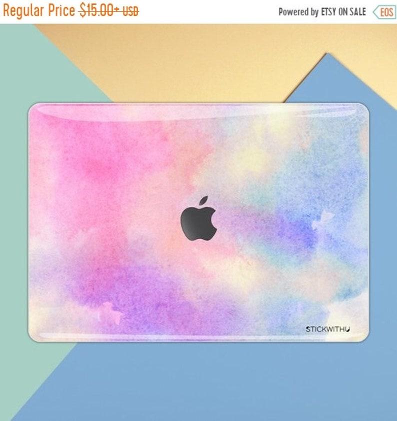 6d6e217c80b36 Macbook skin Pastel Pink macbook decal Air 13 macbook sticker Rainbow  macbook cover Watercolor macbook pro 15 skin Retina Vinyl 15 11 MS 372