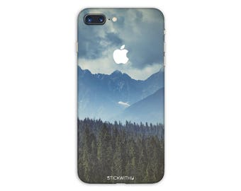 Nature forest iPhone Skin mountain iPhone Sticker  landscape iPhone Decal iPhone 7 8 plus iPhone 10 x 6 iPhone 6s 6 plus 5 5s SE PS 077