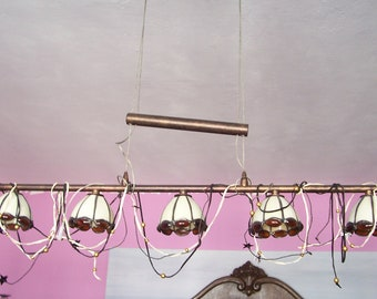Vintage Tiffany Lamp-adjustable-ledlight
