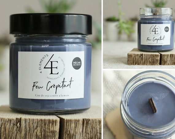 Fire Crepitant candle wick wood fire crackling wood wick candle. Wood fire (with Purolator 2 days delivery)