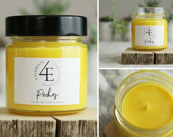 Peaches, peaches candle Soy Candle (delivery fast Purolator 2 days)