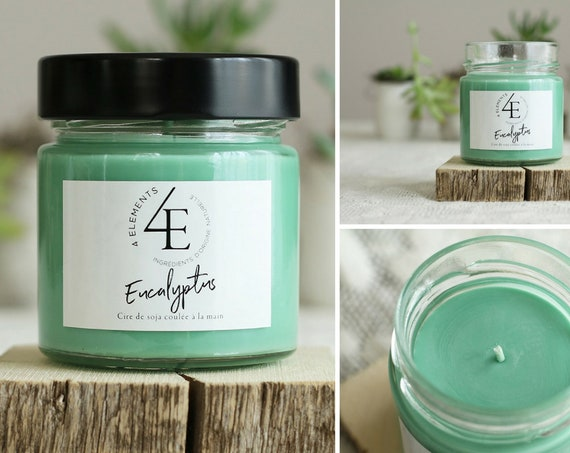 eucalyptus, eucalyptus candle candle, soy wax, soy candle (with Purolator 2 days delivery)