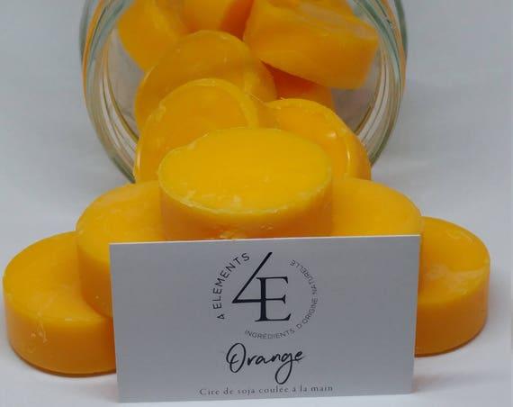 the orange-orange melting wax wax melt