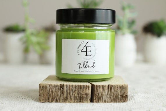 lime-soy candle-soy candle basswood linden Soy Candle (delivery fast Purolator 2 days)
