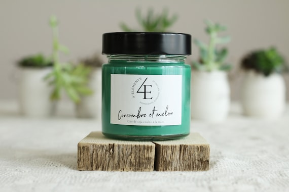 Cucumber melon Soy Candle (with Purolator 2 days delivery)