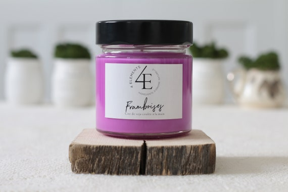 Raspberries, raspberry, soybeans, soy candle candle (delivery fast Purolator 2 days)