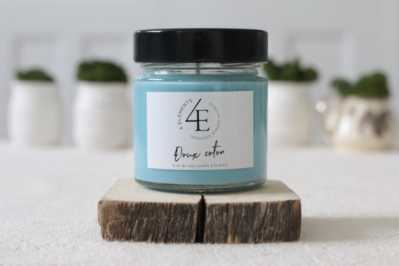 soft, clean fresh cotton candle soy wax, soy wax candle, blue cotton powder, powder blue (delivery fast Purolator 2 days)