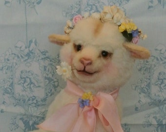 "ADOPTED*** Anthropomorphic Art Dressed Lamb Sheep ""Primrose"" Soft Sculpture Doll"