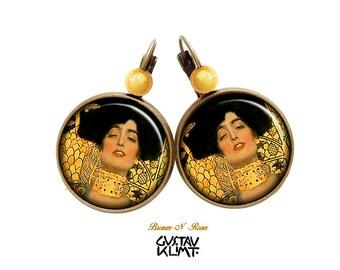 Judith table Gustav Klimt cabochon earrings retro earrings gift
