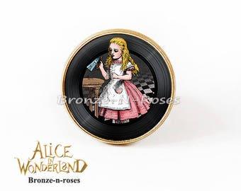 Ring * Drink me * Alice in Wonderland costume glass jewel