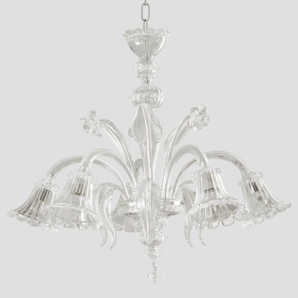 Murano Chandelier Nz: Adone Murano Chandelier 5 Lights Crystal