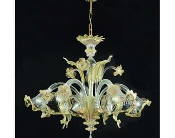 Ca'Venier 5 lights Crystal gold