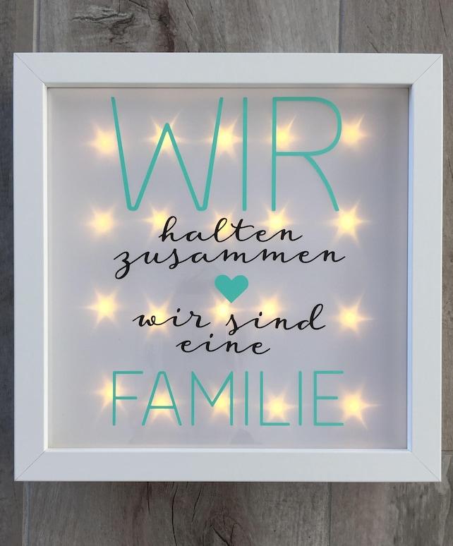 Geschenk Familie beleuchteter Bilderrahmen mit Spruch | Etsy