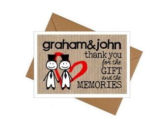 10 Pack Thank You Cards - Wedding/Civil Partnership