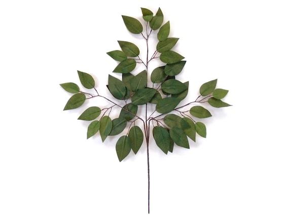 6 Sprays Green Diffenbachia 35 Artificial Plant Leaves 4057 GN