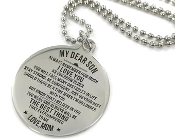 To My Daughter You Are Smarter Than Love Dad Necklace Circular Customized Stainless Steel Birthday Graduation Anniversary Military Gift