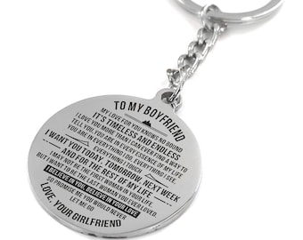 To My Boyfriend Its Timeless Keychain Circular Customized Stainless Steel Birthday Graduation Anniversary Military Gift