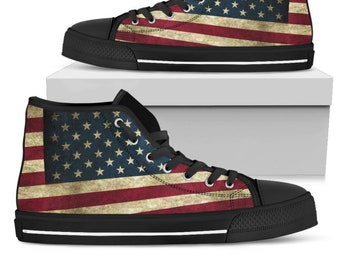 Flag USA High Top Converse Shoes For The Men 533f054412