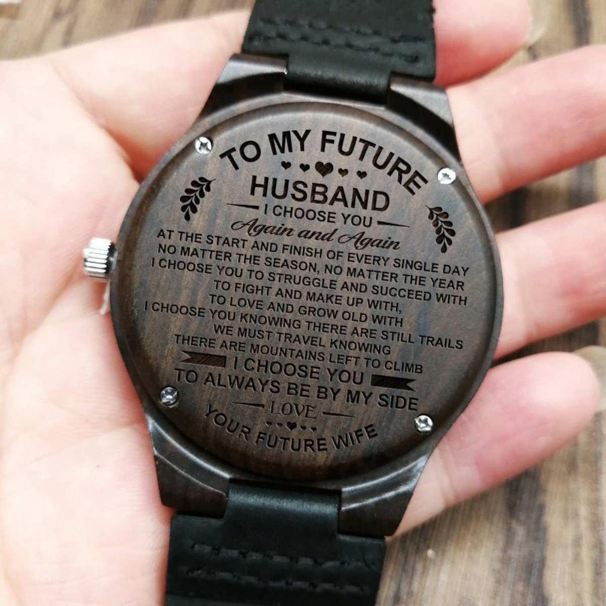 To My Future Husband Again And Your Wife Engraved