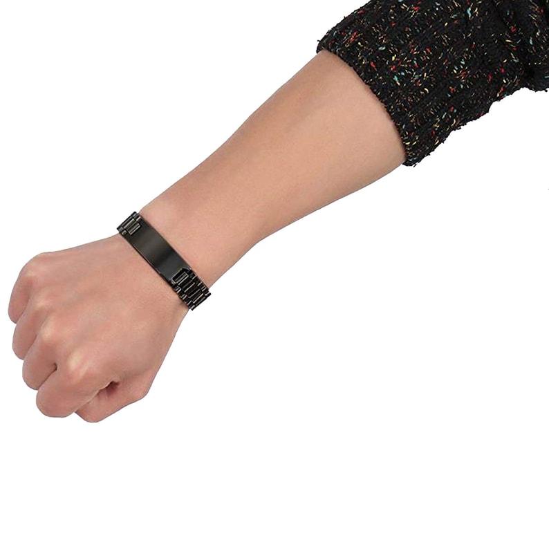 To My Grandson Always Remember Love Grandpa Black Bracelet Wristband Jewelry Birthday Graduation Anniversary Inspirational Gift for Men