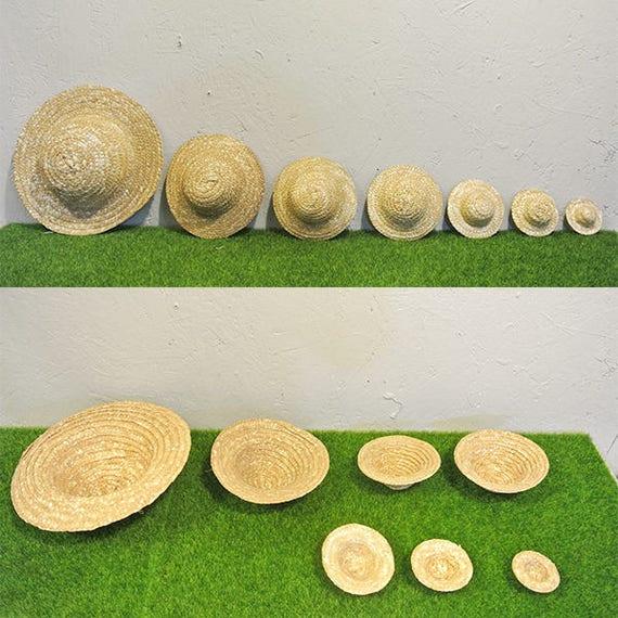 dernières conceptions diversifiées grosses soldes caractéristiques exceptionnelles Mini chapeau de paille poupée Miniature/paille chapeaux