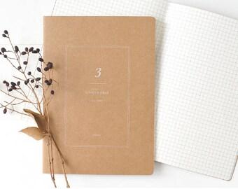 A5 Kraft Notebook[1/6 Grid] / Stitch Notebook / N-10 / 1402211