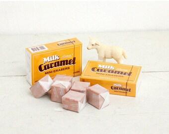 Caramel Eraser / Kawaii Eraser / A set of 6pcs / S-04 / 368605