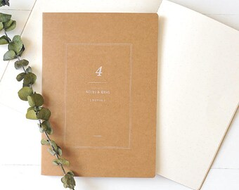 A5 Kraft Notebook[Dotted] / Stitch Notebook / N-11 / 1402213